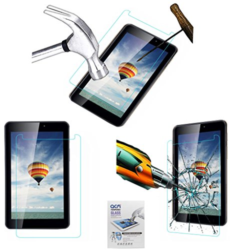 Acm Tempered Glass Screenguard Compatible with Iball Slide 6351-Q40 Tablet Screen Guard Scratch Protector