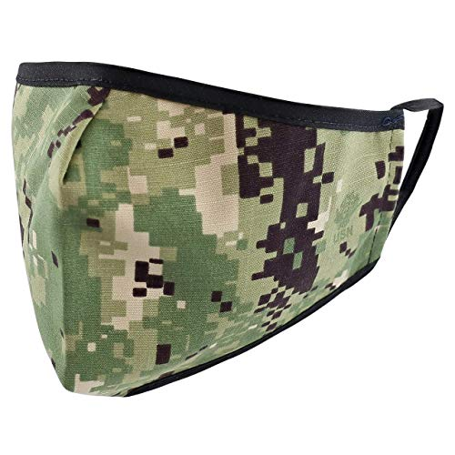Reusable Washable Military Grade Cotton Blend Cloth Face Cover, Made in USA (AOR-2/NWU-3, 1)