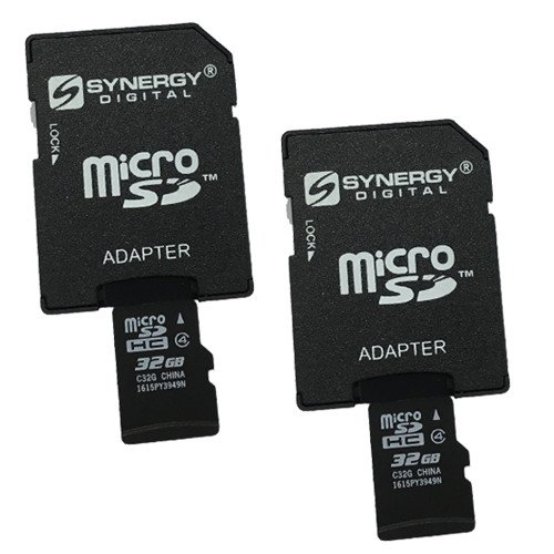 AEE AP10 Pro Quadcopter Drone Memory Card 2 x 32GB microSDHC Memory Card with SD Adapter (2 Pack)