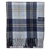 The Tartan Blanket Co. Recycled Wool Blanket Bannockbane Silver Tartan (59' x 75')