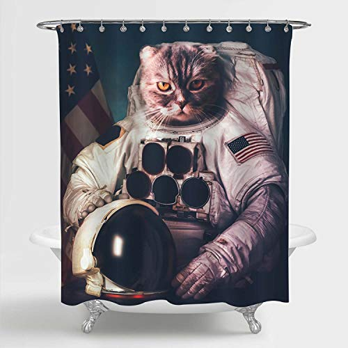 Astronaut Cat Shower Curtain