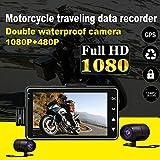 Motorcycle Camera Dash Cam DVR Video Recorder Dual Lens Loop Record Night Vision