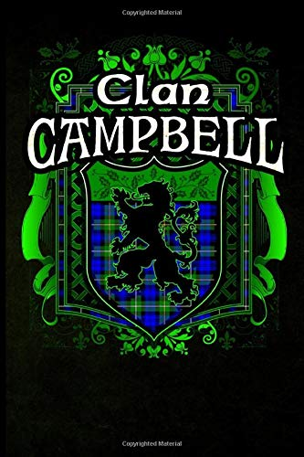Clan Campbell: Scottish Clan Rampant Lion Tartan Shield - Blank Lined Journal with Soft Matte Cover