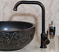 モダンな洗面器の蛇口ブラックORBシンクミキサータップキッチンバスルームタップシングルレバー蛇口洗面器ミキサーデッキマウント