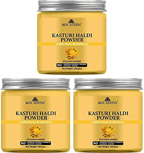 Bluenile Bon Austin Kasturi Haldi Pack of 3 Bottle of 100 GMS(300 GMS)