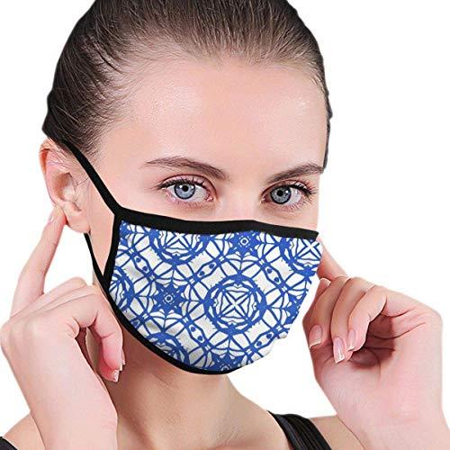 Nahtloses Muster mit mediterranen Motiven Männer Frauen Atmungsaktive Bequeme Gesichtsschutzhülle mit elastischem Gurt für die persönliche Gesundheit Verschiedene Verwendung