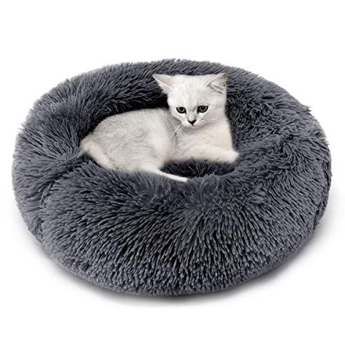 Legendog Mascota Cama Resbalón Prueba Felpa Suave Redondo Gato Dormido Cama Pequeña Perro Cama