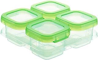 4 Pièces Boîtes de Rangement Bébé Sevrage Alimentation Congélateur Conteneurs Carrés Conteneurs De Stockage Des Aliments,C...