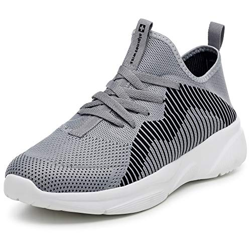 Alpine Swiss Kyle Men's Lightweight Athletic Knit Fashion Sneakers Gry 9 M US Grey