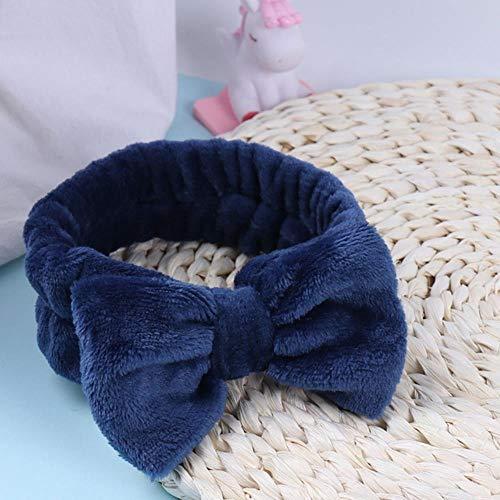 PJC Frauen Schmetterling Bogen Haarband OMG Buchstaben waschen Gesicht Stirnband Kopfbedeckung Haarbänder Korallen Fleece Haar, 6