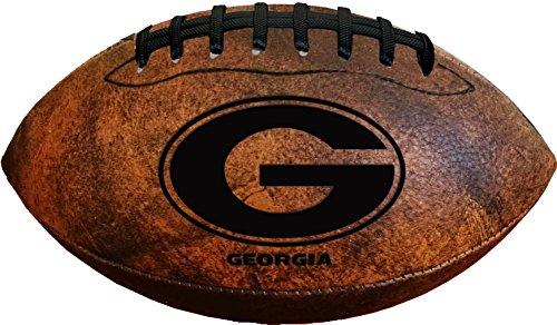 Gulf Coast Sales NCAA Georgia Bulldogs Vintage Throwback Football, 9-inches, Brown