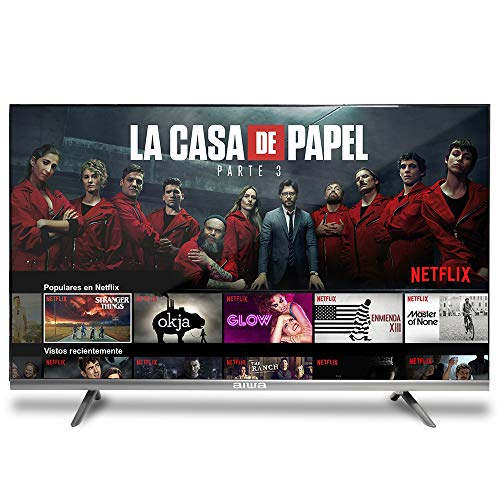 Aiwa LED325HDSMART - Televisor HD LED 32', Smart TV, Wi-Fi, USB, Acceso Directo Netflix