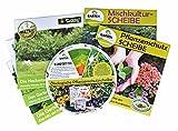 GARTENleben Mischkulturscheibe, Pflanzenschutzscheibe, Heckenscheibe, Gemüsescheibe, Das Gartenjahr - Paket