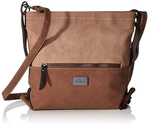 TOM TAILOR Umhängetasche Damen Elin, Braun (Braun), 28.5x26x9 cm, TOM TAILOR Taschen für Damen, Handtasche, Schultertasche, Hobo