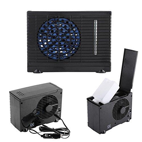 Schwarz Miniklimaanlage, Tragbare Klimaanlage aus ABS, Mobile Klimageräte mit Wasserkühlung, für Auto, Schlafzimmer, Büro