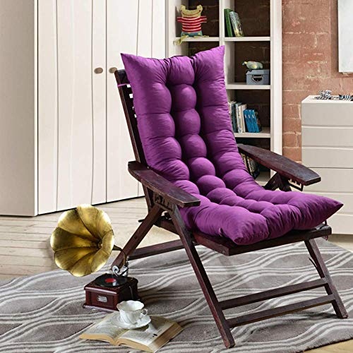 Coussin chaise longue, coussin chaise longue, matelas chaise longue, couleur unie antidérapante pour jardin canapé intérieur extérieur, banc tatamis (coussin uniquement) - violet profond 48x120cm (19