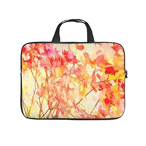 Bolsa para ordenador portátil antiestática de arce rojo con hojas de otoño, para el trabajo, el negocio