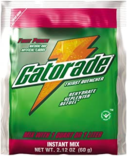 Gatorade Fruit Punch Powder, 2.12-Ounce Single Serve Pouches (Pack of 144)