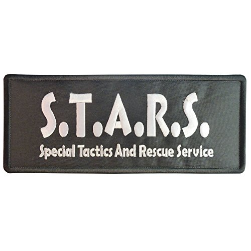 2AFTER1 Big XL 10x4 inch Resident Evil S.T.A.R.S. Umbrella Corporation Vest Cosplay Embroidered Hook-and-Loop Patch