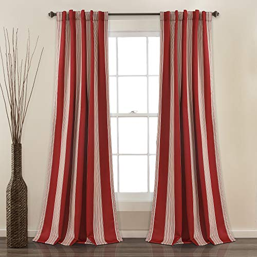 red and white window curtains - 9
