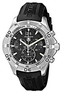 TAG Heuer Men's CAF101EFT8011 Aquaracer Grande Black Dial Watch image