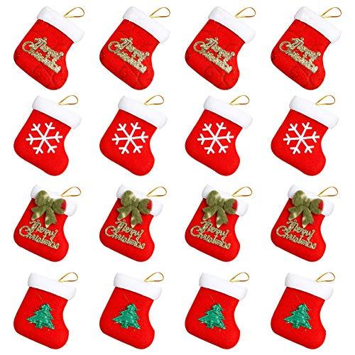 16 Bolsas Mini Calcetines de Navidad