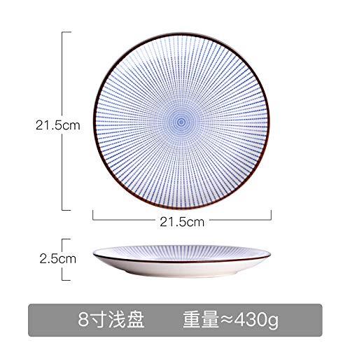 Bestekservies keramiek eetbord set soepborden diepe plaat huishouden eettafel sushi plaat persoonlijkheid bord 8 inch platte schaal