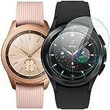 KIMILAR [3 Confezioni Pellicola Protettiva Compatibile con Samsung Galaxy Watch 4 Classic 42mm / Galaxy Watch 3 41mm / Galaxy Watch 42mm in Vetro Temperato, 9H Durezza, Anti-graffio, Anti-Bolle