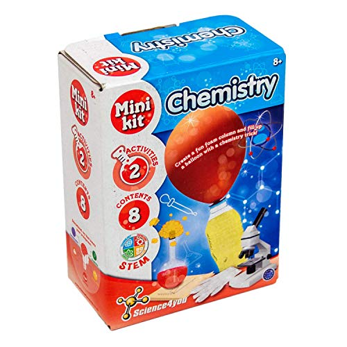 Science 4 You SY611443.0035 Mini Chemistry, Educational STEM Toy Kit for Kids Aged 8+, Multi
