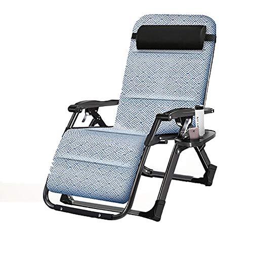 Campingstuhl Schwerkraft liegend Relaxer Chair, Multi Position Sonnenliege, tragbare Faltbare ultraleichte mit Getränkehalter, ideal für Zuhause/Terrasse/Decking/Urlaub/Strand