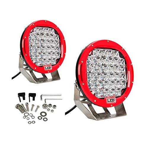 Lumitek 2x 185w 9 Inch Red Headlamp Lamp...