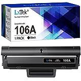 LxTek 106A Compatible Reemplazo para HP 106A W1106A Cartuchos de tóner para HP Laser 107a 107r 107w MFP 135a 135r 135w 135wg 137fnw 137fwg (1 Negro, con Chip)