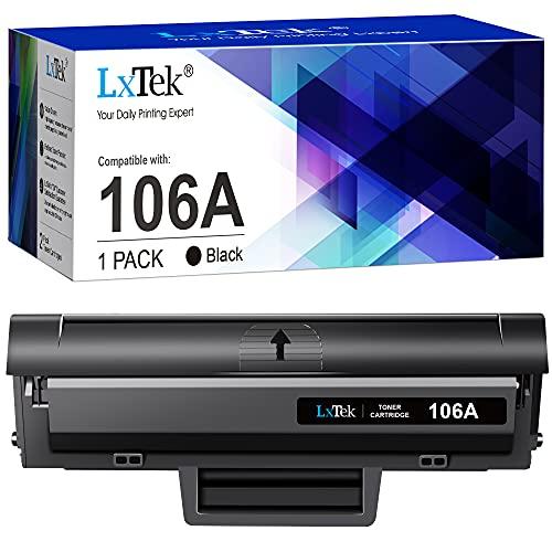 LxTek Compatibili Toner Sostituzione per HP 106A W1106A per Laser 107a 107r 107w MFP 135a 135r 135w 135wg 137fnw 137fwg (Nero, 1-Pack, Con Chip)