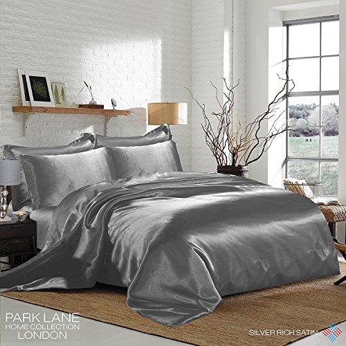 Textile Warehouse Juego de fundas para edredón, color plata