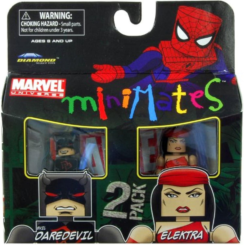 Marvel Minimates Series 38 Mini Figure 2Pack Elektra Evil Daredevil