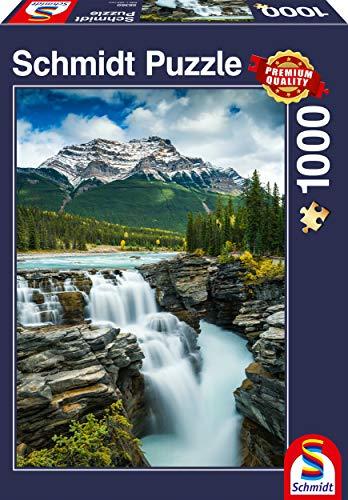 Schmidt Spiele Puzzle 58360 Athabasca Wasserfall, Kanada, 1000 Teile Puzzle, bunt