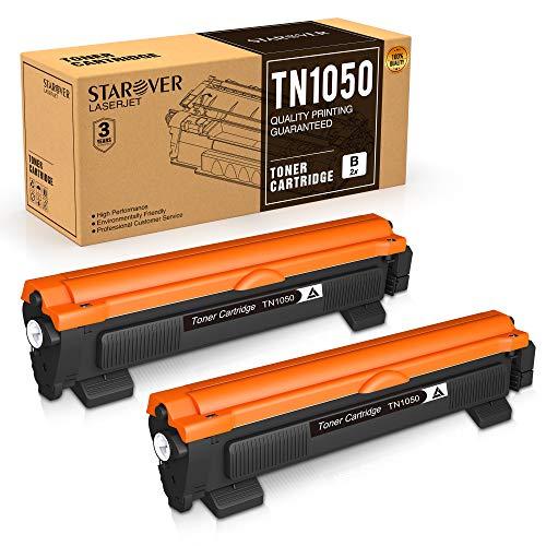 STAROVER TN1050 Tonerkartuschen Kompatible für Brother TN-1050 Patrone Ersatz für Brother HL-1110 DCP-1612W DCP-1610W HL-1210W HL-1112 MFC-1810 HL-1212W MFC-1910W DCP-1510 DCP-1512 (2 Schwarz)
