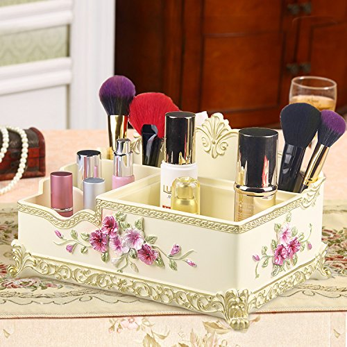 MZP Kosmetik Storage Box Desktop-Bett Kommode große multifunktionale Hautpflege-Produkte Lippenstift Aufbewahrungsbox Lagerung , ginger