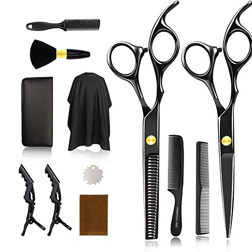 Hair Cutting Scissors Professional Hair Cutting Kit Tooth Shears Scissor&Straight Scissors Home Hair Cutting Shear for Women, Men, Kids, Gift for Friends, Family