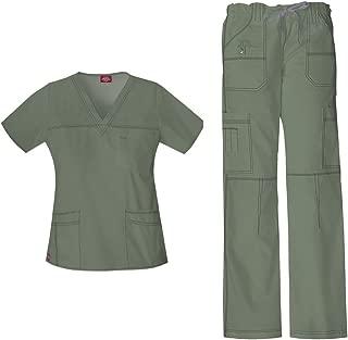 Gen Flex Women's Junior Fit Top 817455 GenFlex Drawstring Pant 857455 Scrub Set