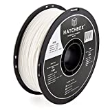 HATCHBOX ABS 3D Printer Filament, Dimensional Accuracy +/- 0.03 mm, 1 kg Spool, 1.75 mm, White, Model Number: 3D ABS-1KG1.75-WHT