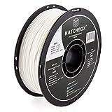 HATCHBOX ABS 3D Printer Filament, Dimensional Accuracy +/- 0.03 mm, 1 kg Spool, 1.75 mm, White, Model Number: 3D ABS-1KG1.75-WHT