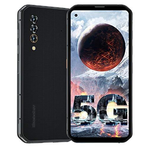 Blackview BL6000 Pro 5G Rugged Smartphones Unlocked, 8GB + 256GB Waterproof Phones, 6.36 inch FHD Smartphone, 48MP Triple Camera, 5280mAh 18W Fast Charging, NFC,GPS, Global Version