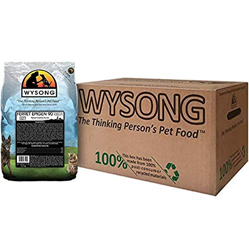 Wysong Ferret Epigen 90 Digestive Support - Starch Free Dry Natural Food for Ferrets,5 Pound (Pack of 4)