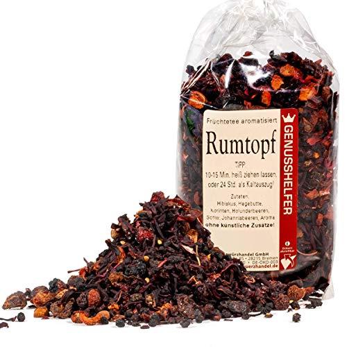 Rumtopf Tee Früchtetee alkoholfrei 100 Gramm, Wintertee, Punsch, Eistee - ohne Zusatzstoffe - Bremer Gewürzhandel