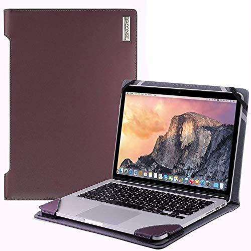 Broonel - Serie de perfiles - Estuche para De Cuero Morado - Compatible con La HP Stream 14s-fq0020na 14 Inch Laptop