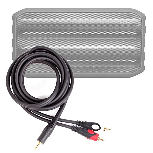 DURAGADGET Excelente Cable De Audio Minijack/RCA para Altavoz inalámbrico Techvilla S01 - Bañado En Oro
