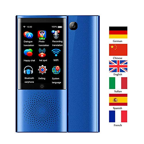 MrRong Smart Language Translation Device Instant Offline Intelligent Speech Translator Support 105 Languages for Learning Shopping Travel Business WiFi Pocket Electronic Translators,B