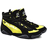 Rival Boxing Boots-Low Tops with MESH (Yellow & Black, 8)