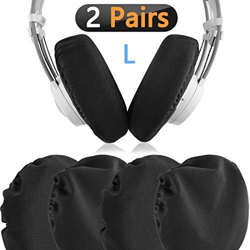 Geekria 2pairs Dehnbare Kopfhörer-Abdeckungen, waschbar Ohrmuscheln für 4.33